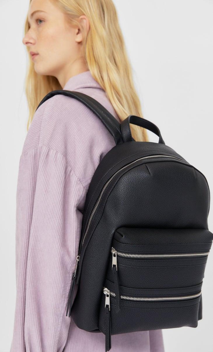 حقيبة ظهر بسحاب مزدوج