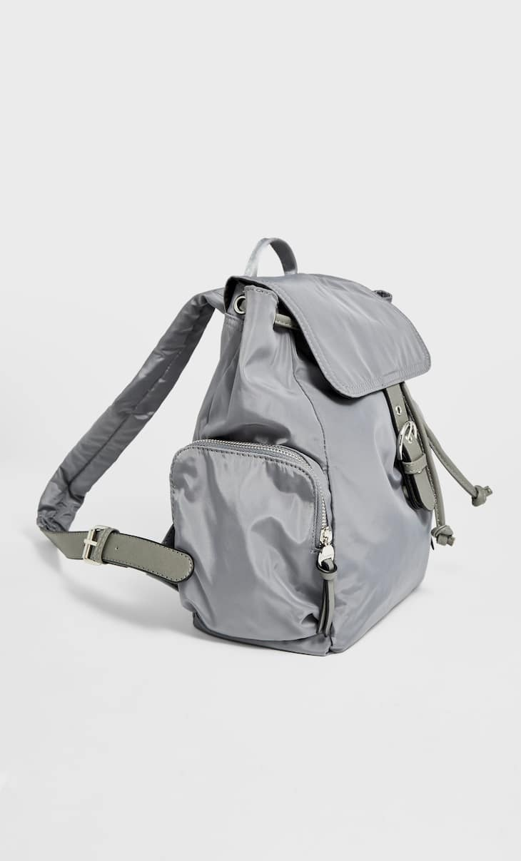 Fabric backpack with pockets