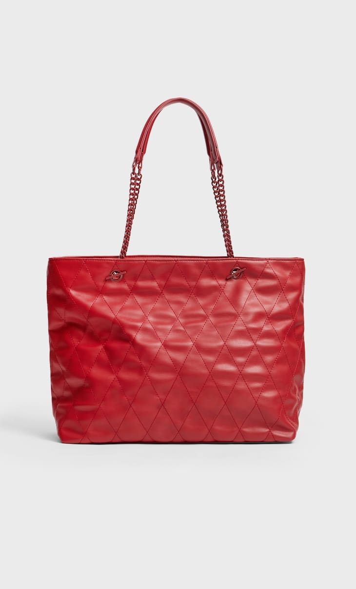 Стеганая сумка-шопер