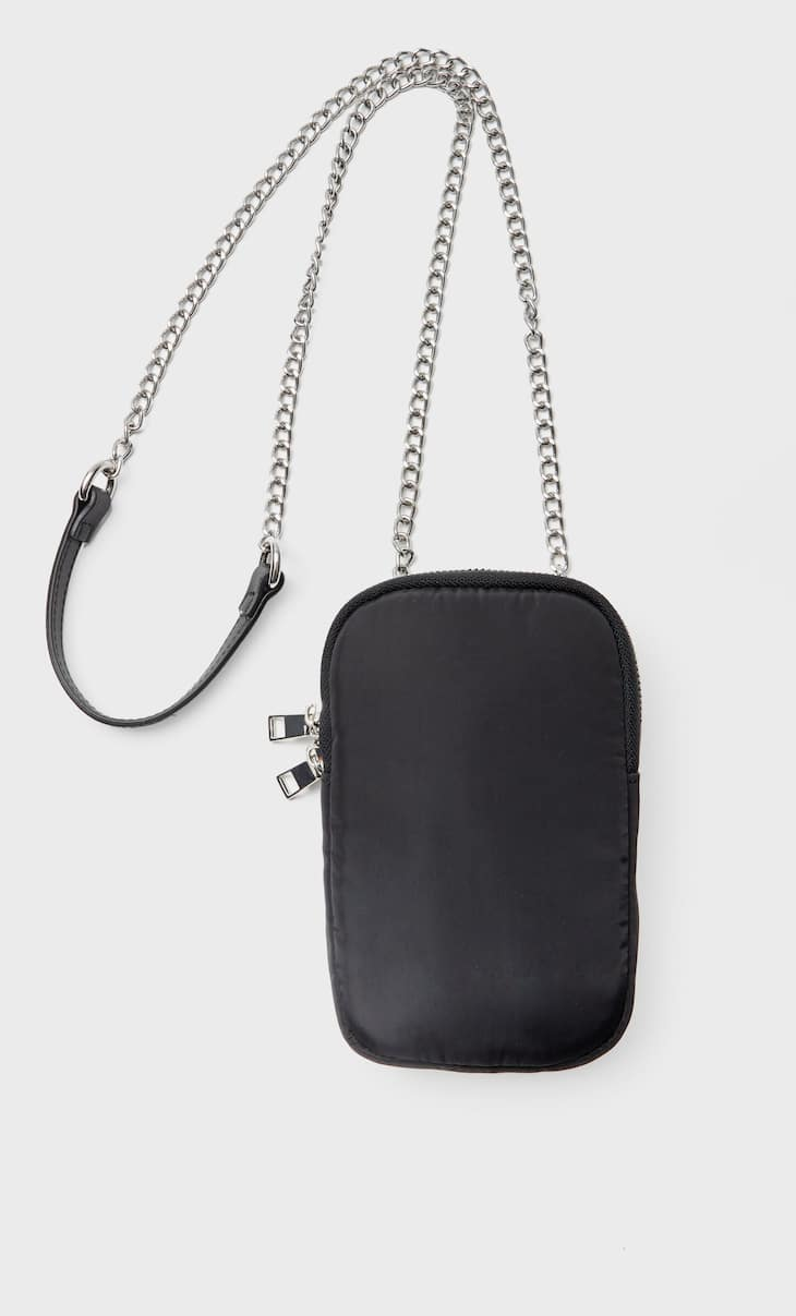 Fabric smartphone crossbody bag
