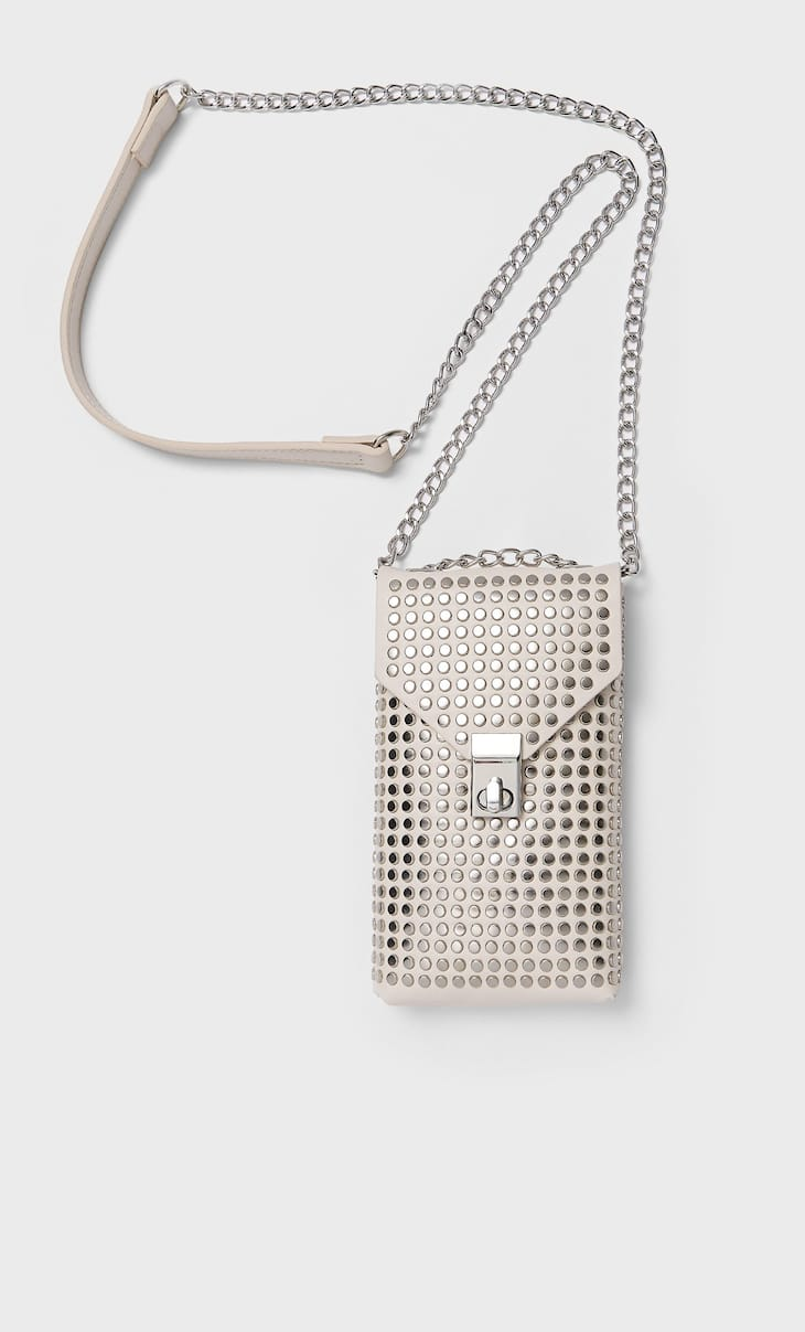 Smartphone crossbody bag with studs