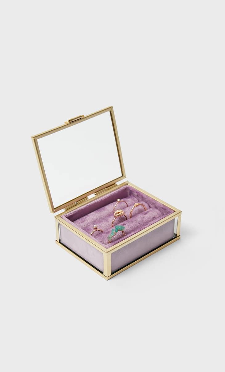 Caja velvet anillos