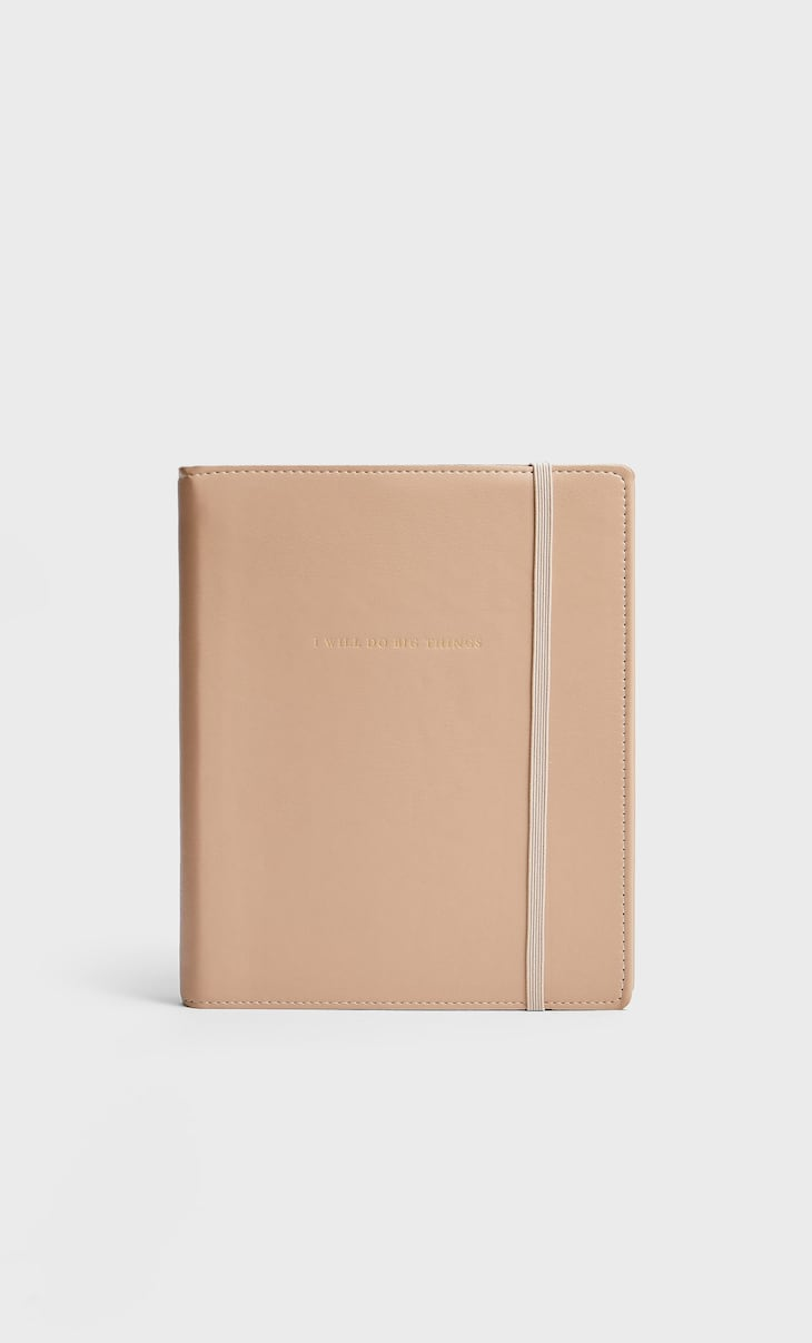 Large faux leather planner