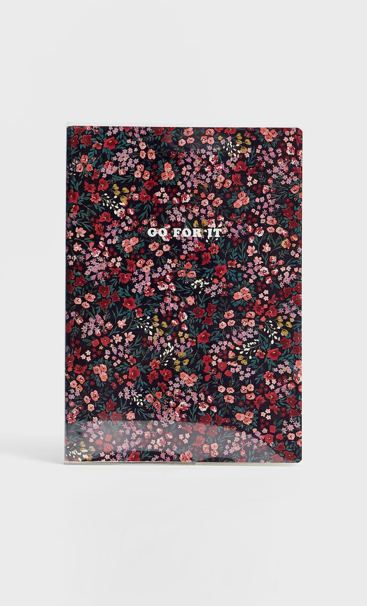 Planner con stampa floreale rosso