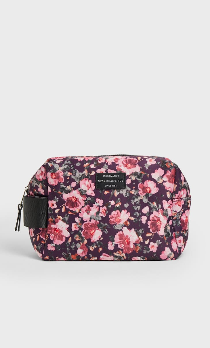 Neoprene printed toiletry bag