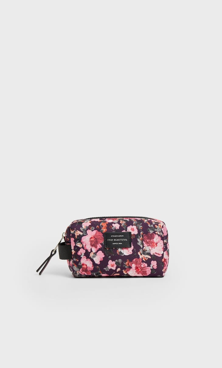 Neoprene toiletry bag with mini print