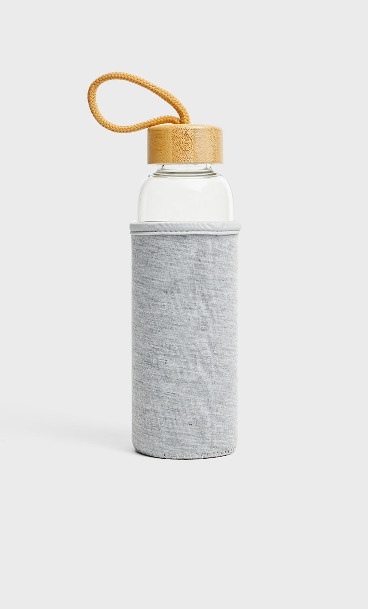 Glass bottle knit cover