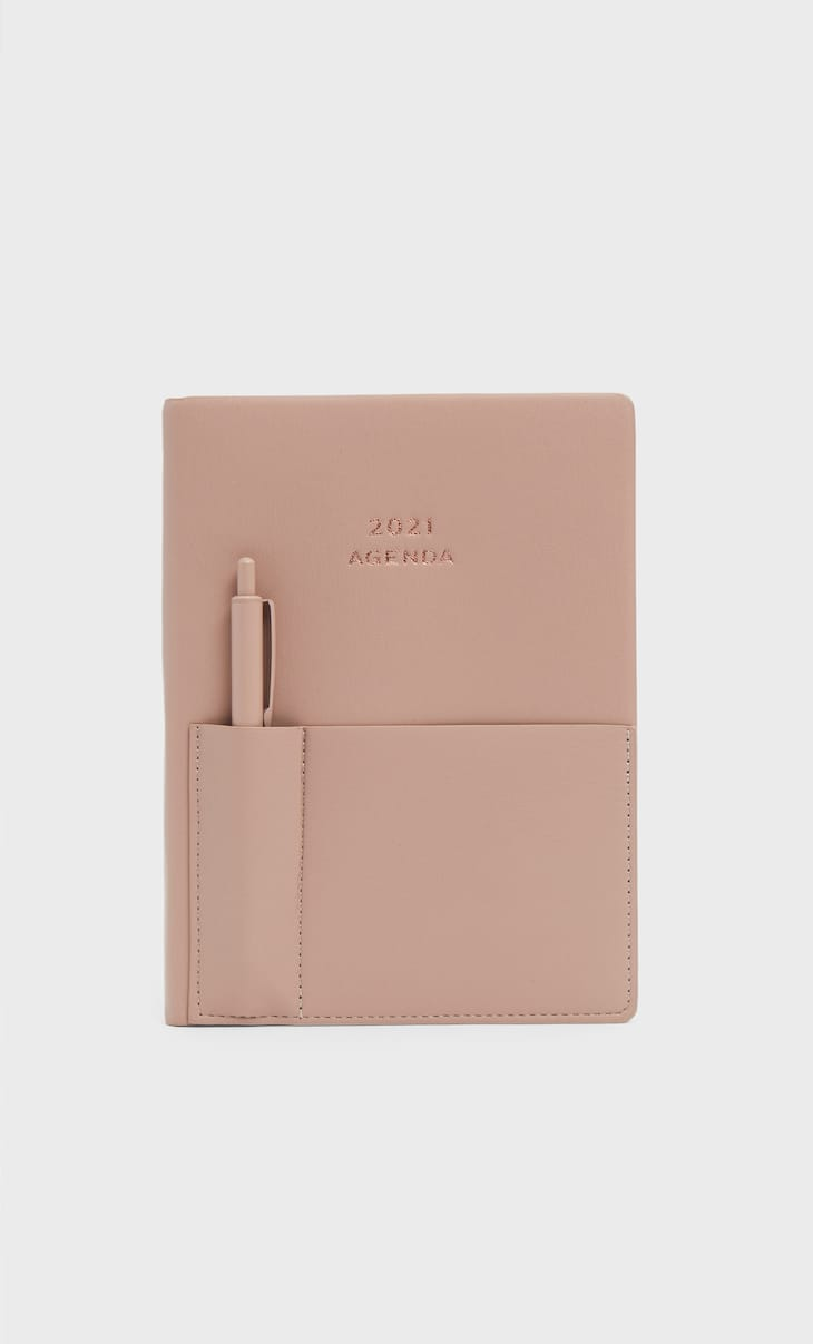 Faux leather diary