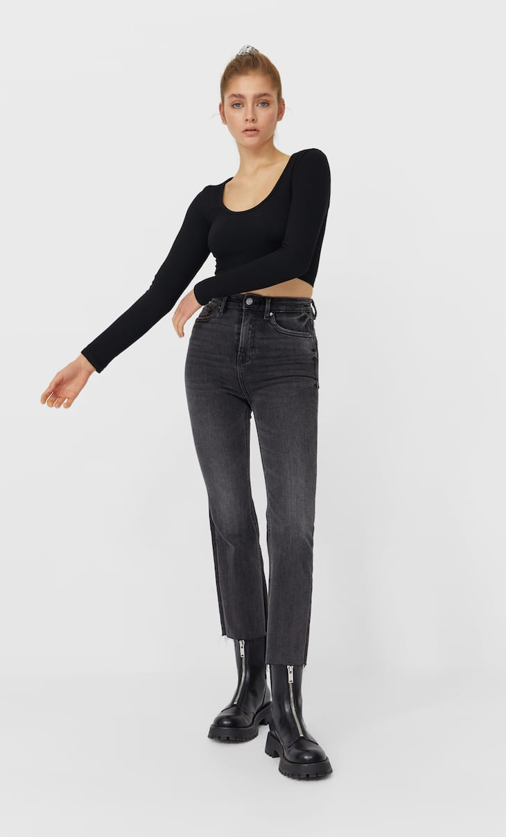 Jeans 7/8 flare.