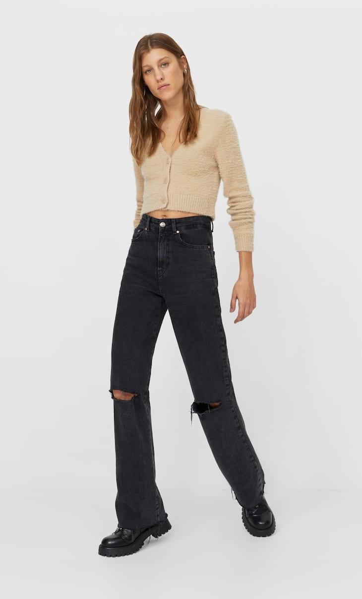 Jeans straight rotos