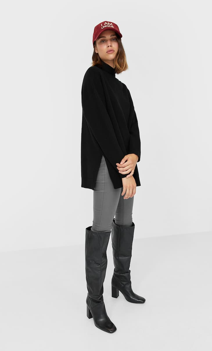 Oversize cut-out sweater