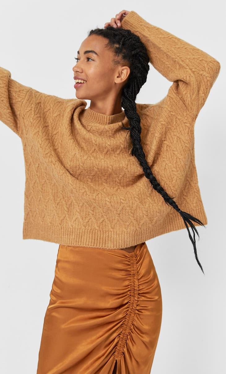 High neck sweater