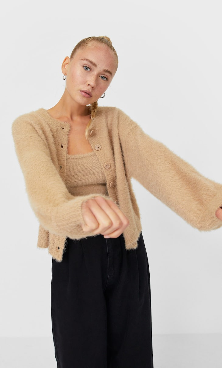 Soft-feel cardigan