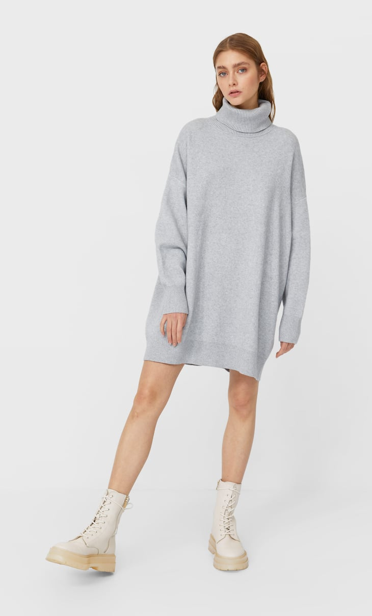 Oversized knit dress