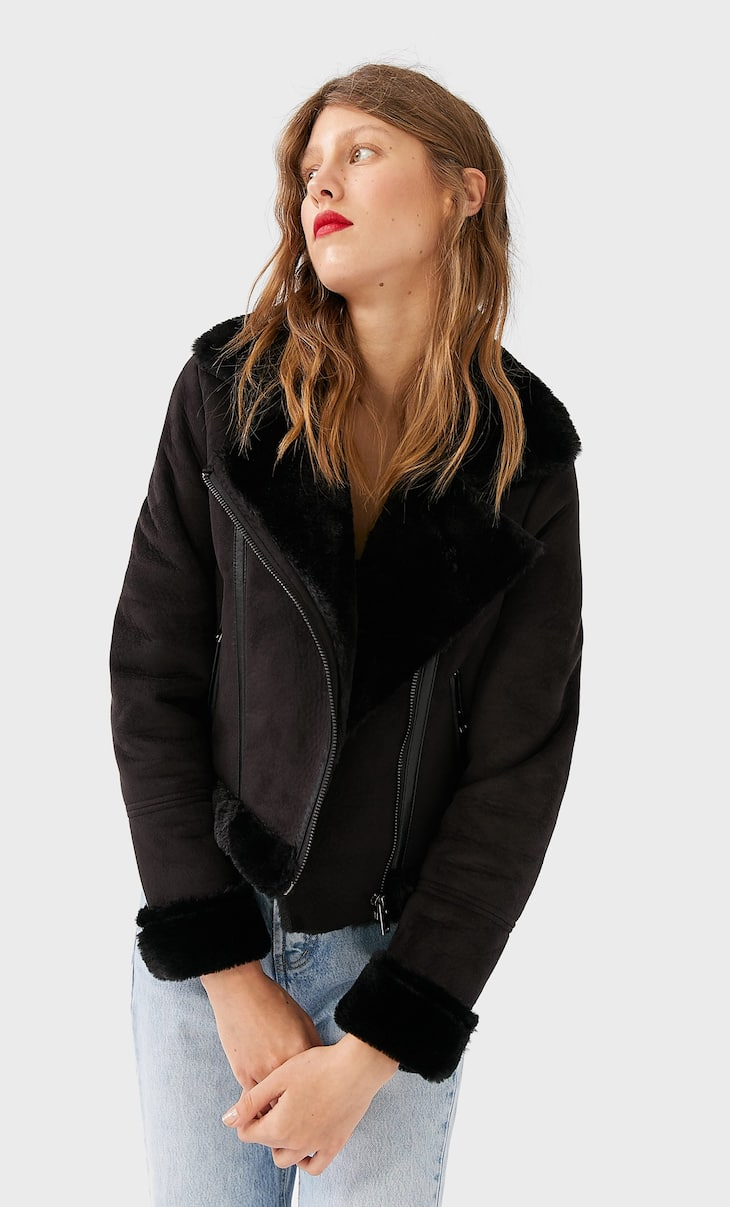 Cropped double-faced jacket