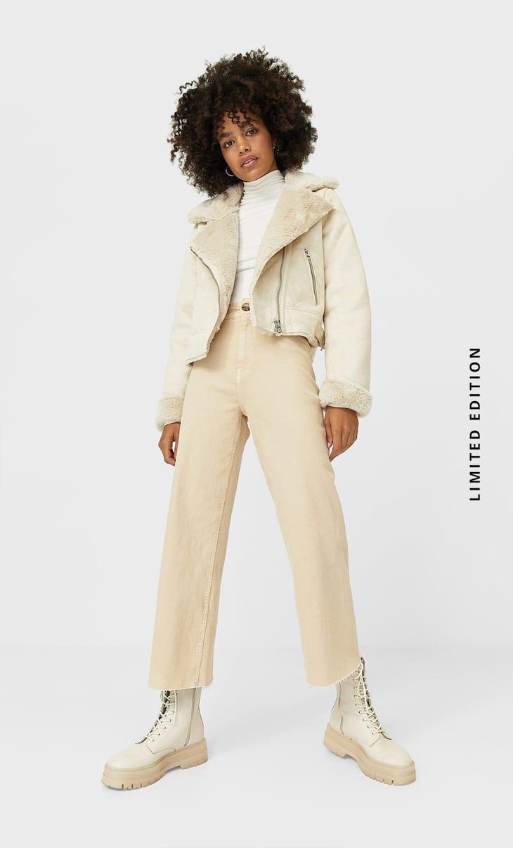 Короткая куртка в байкерском стиле