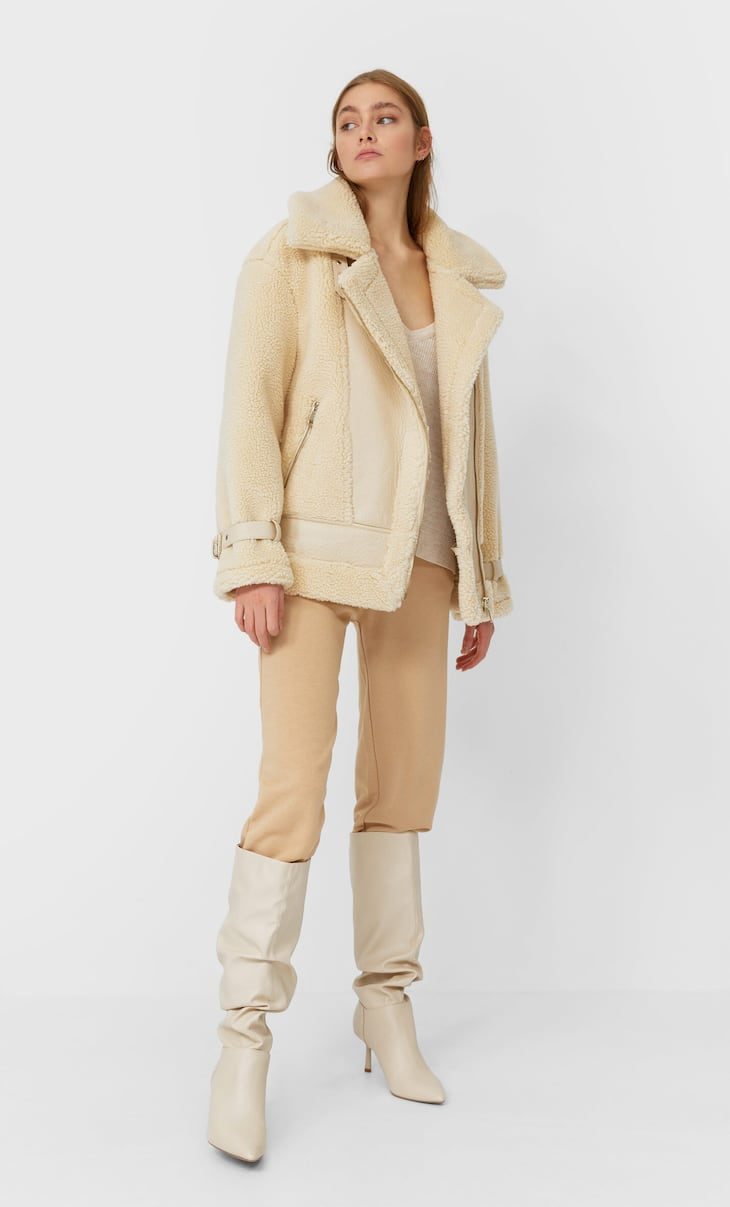 Double-faced faux-shearling jacket