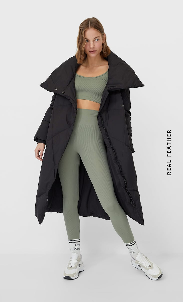 Basic down puffer coat