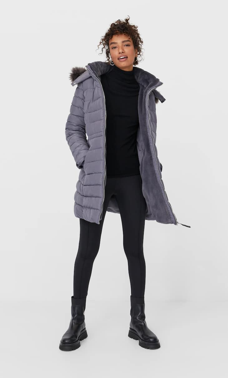 Tailored puffer coat