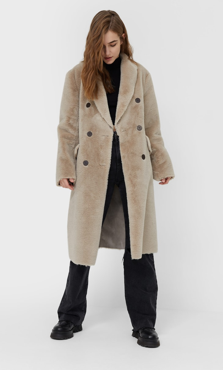 Long double-sided coat