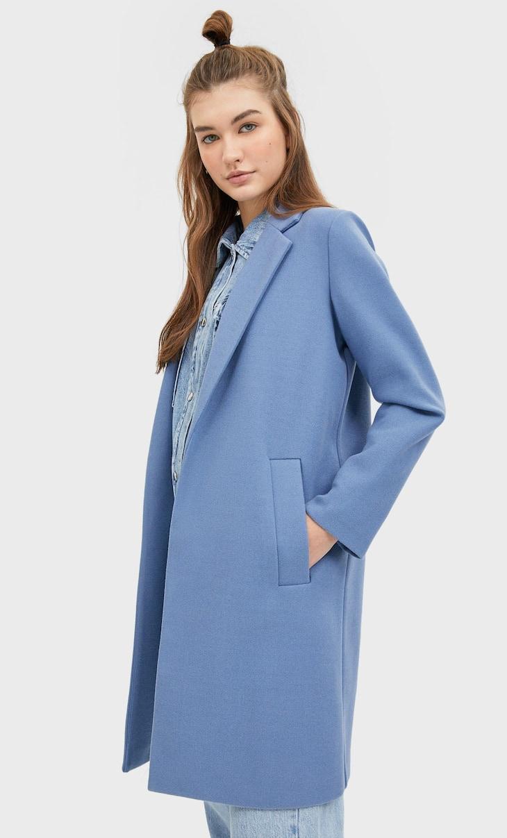 Manteau en maille grattée