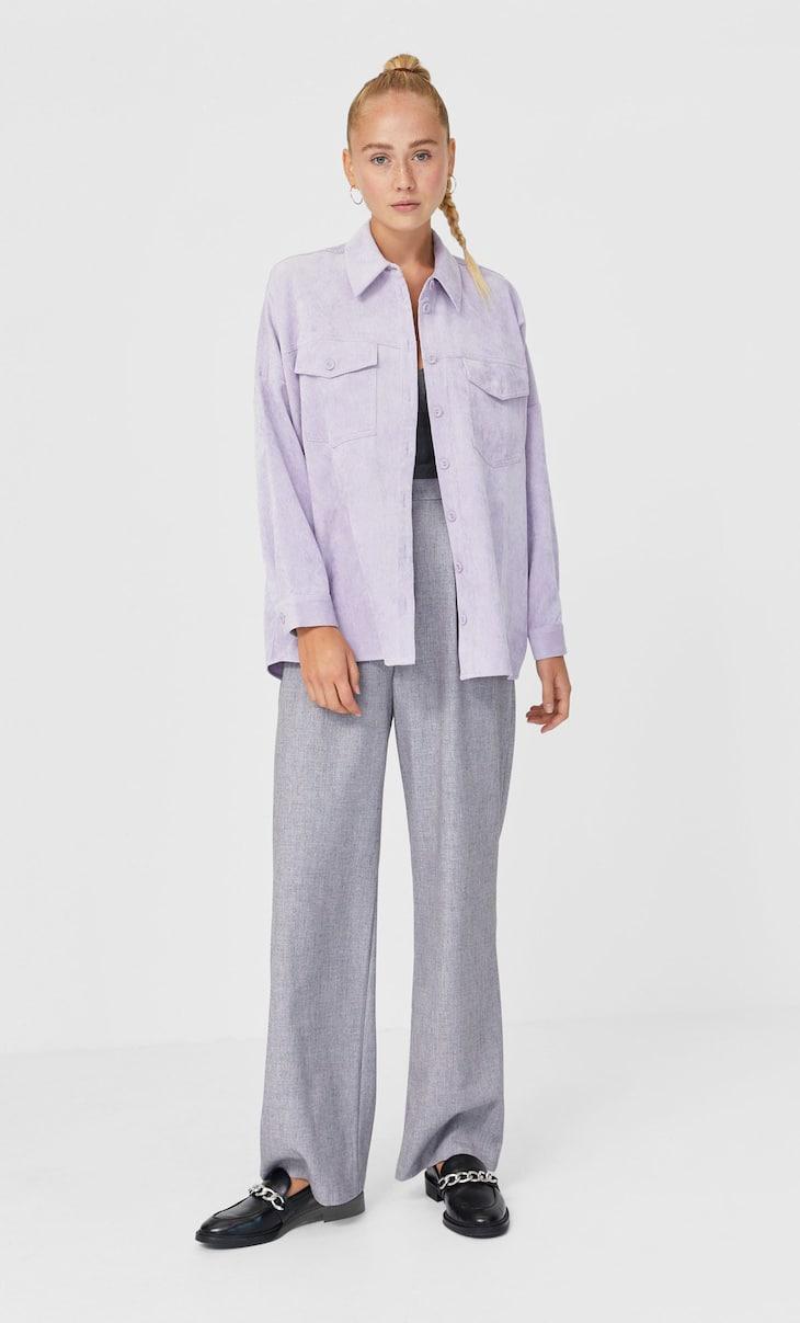 Вельветовая куртка-рубашка
