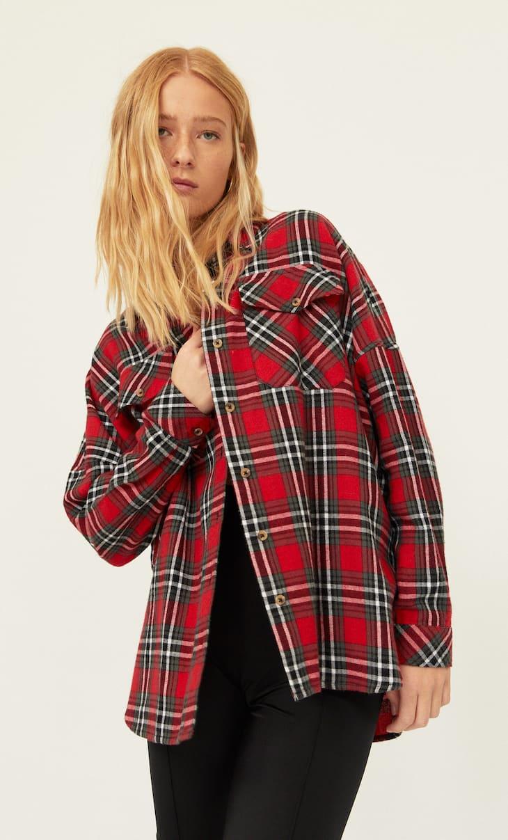 Kareli ince ceket