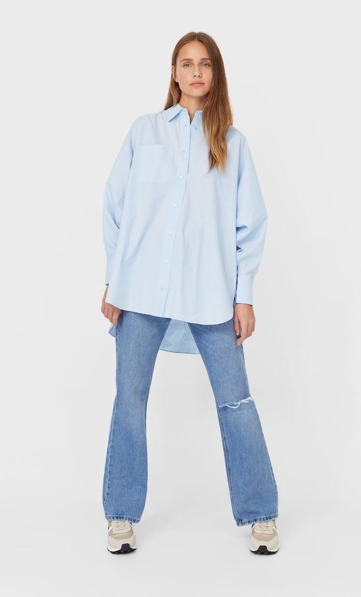 Camisa oversize popelín