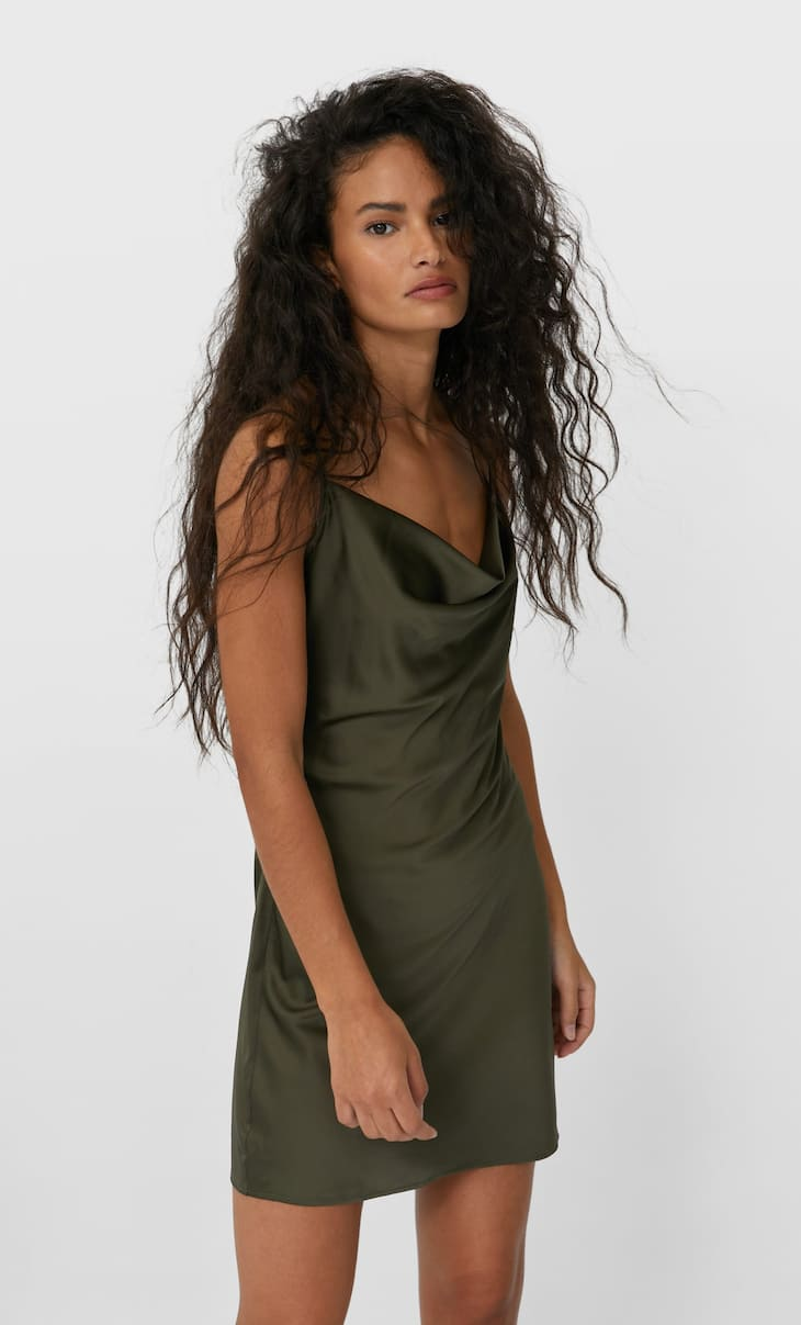 Short satin dress