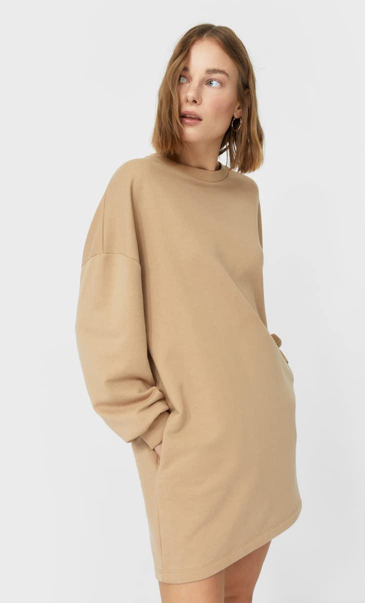 Plush jersey dress