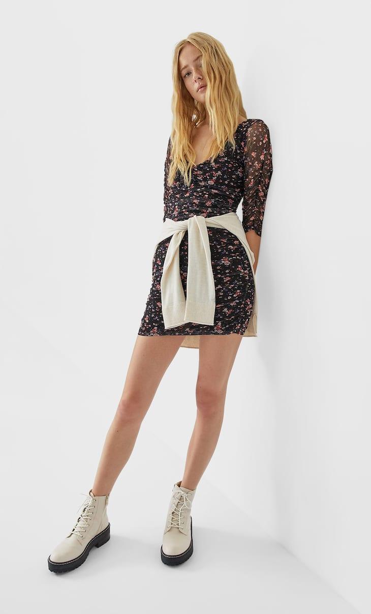 Vestido corto tul