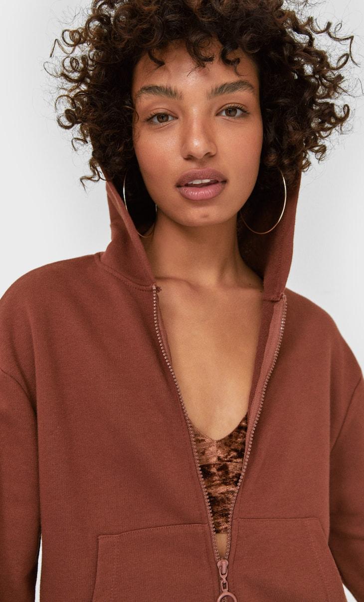 Hoodie with zip