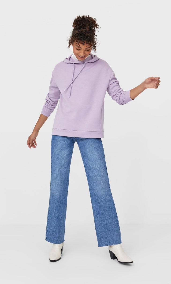 Bluză sport simplă cu glugă