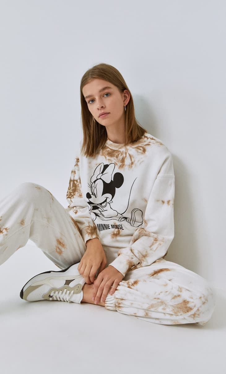 Tie-dye Minnie Mouse sweatshirt