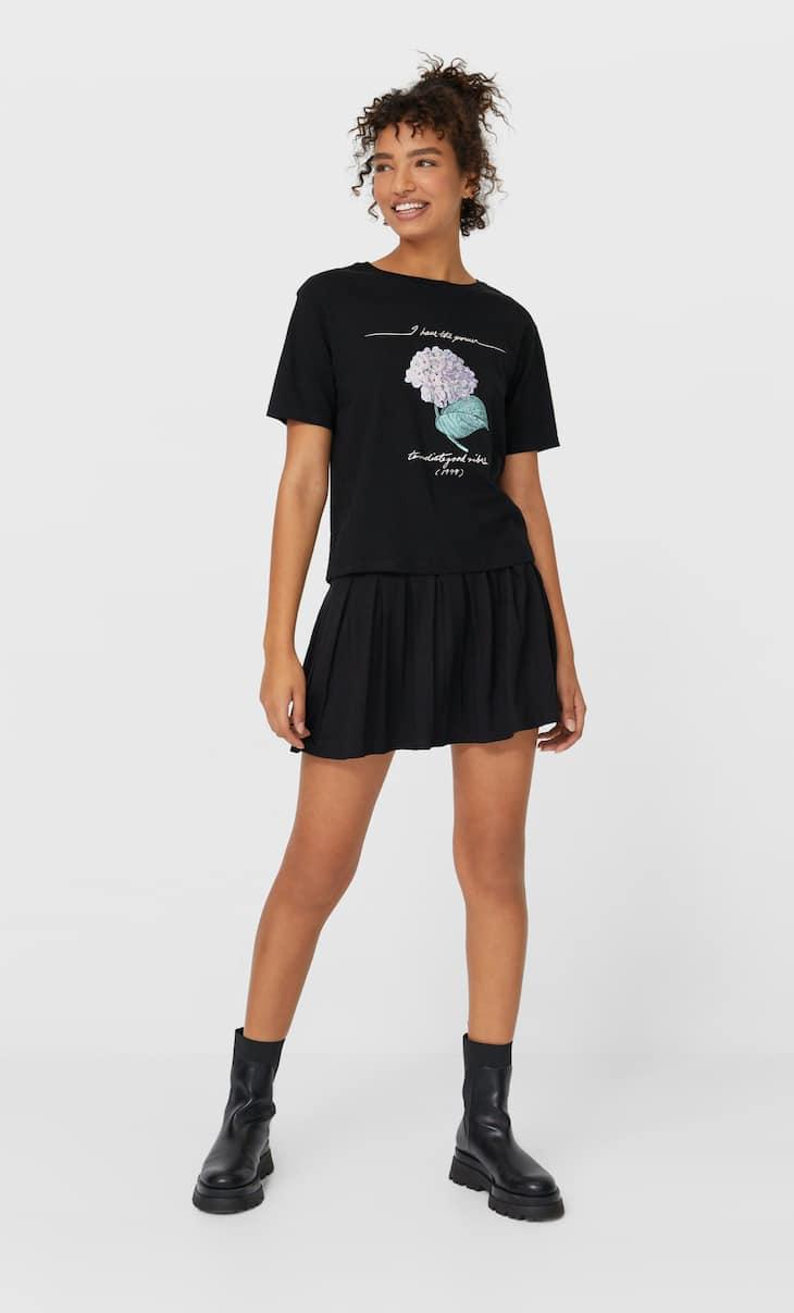 T-shirt imprimé fleurs