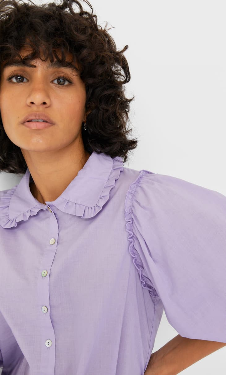 Peter Pan collar shirt