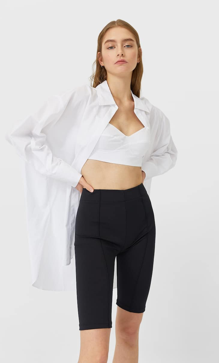 Oversized shirt with bralette