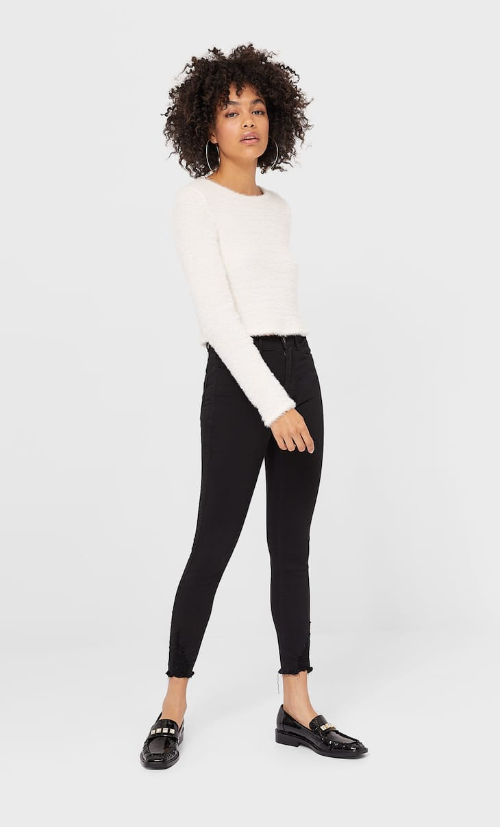 Pantalón high waist skinny rotos