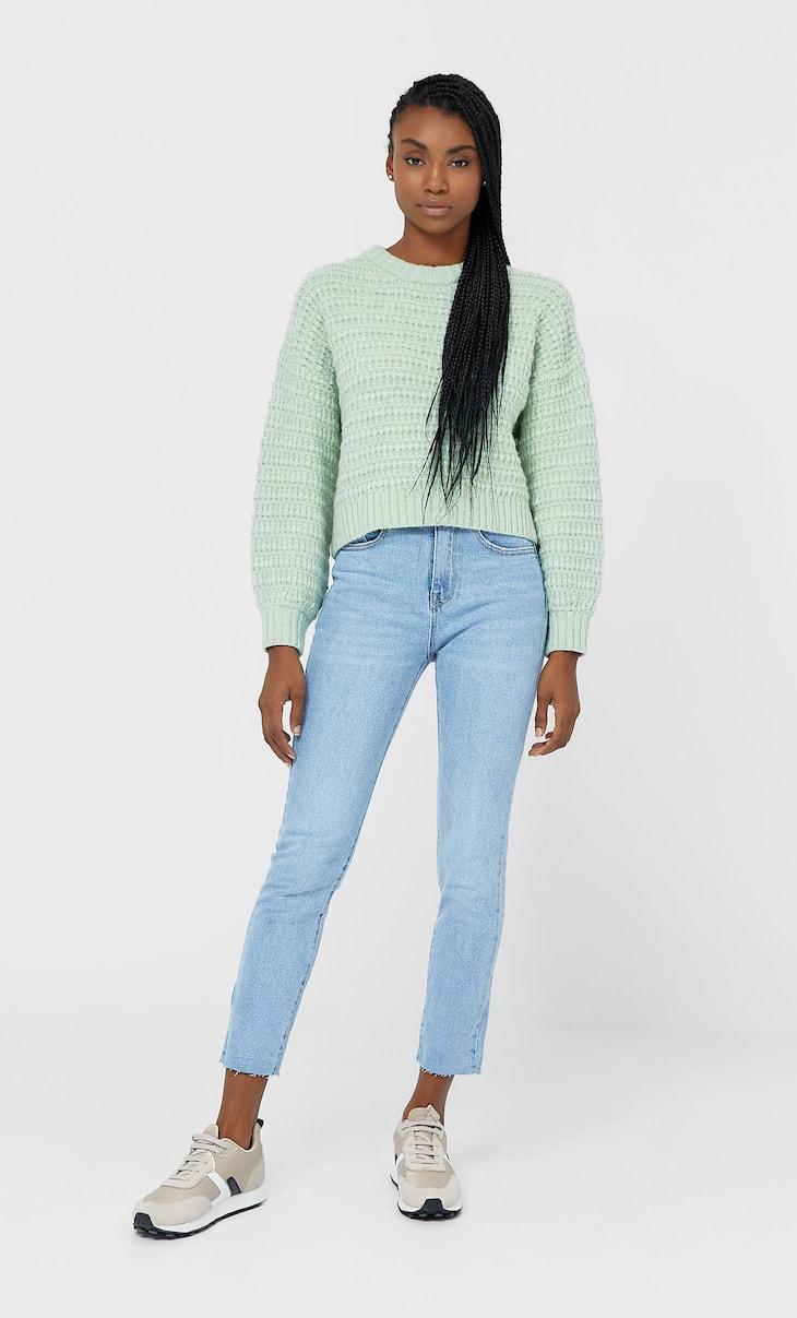 Jeans im Slim-Fit mit hohem Bund