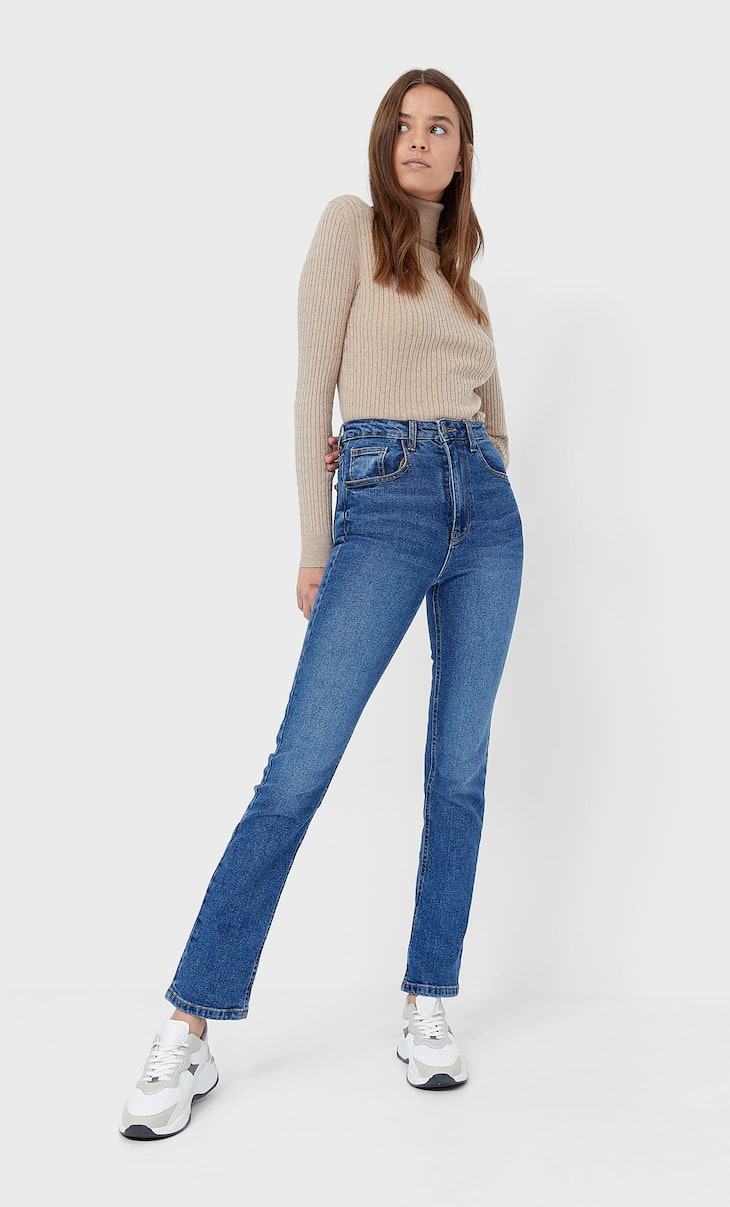 Straight-fit vintage jeans