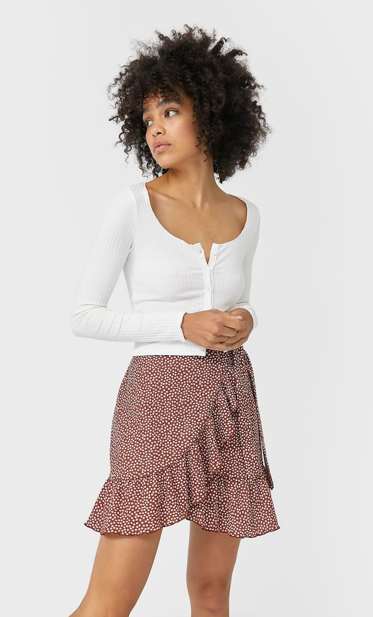 Rustic mini skirt