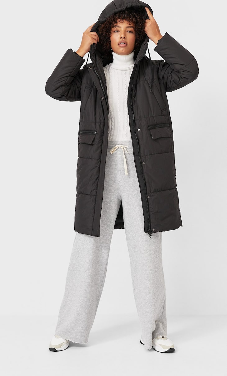Manteau matelassé long