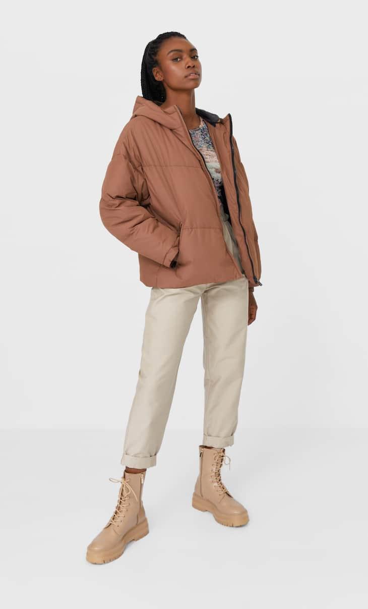 Oversize hooded puffer jacket