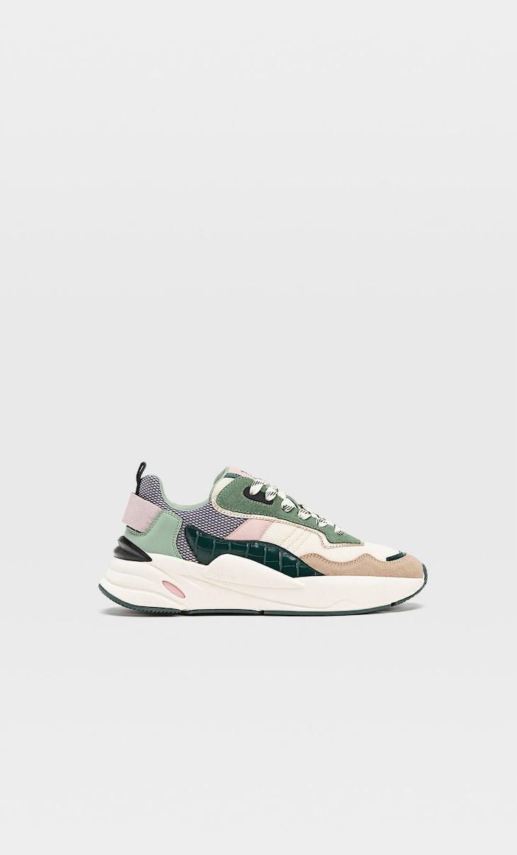 Buty sportowe z kolorowymi wstawkami