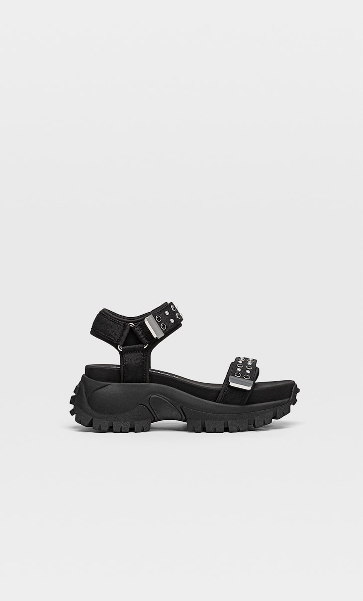 Sporty sandals with details - Women's