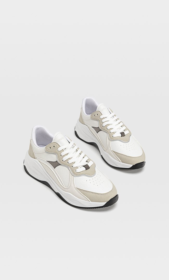 Trainers with multi-piece detail