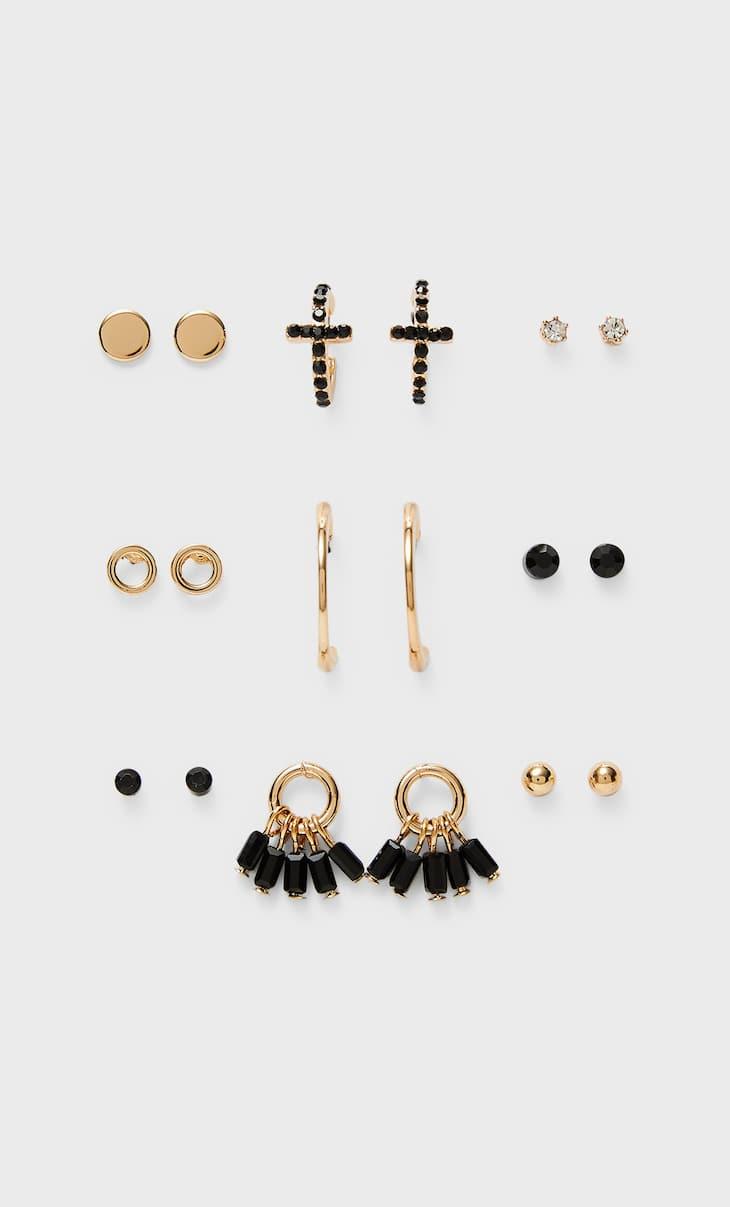 Set of 9 pairs of earrings