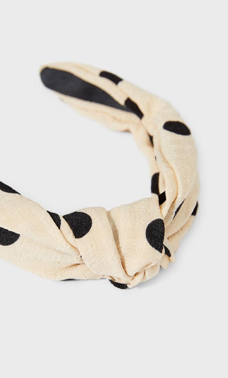 Polka dot rigid headband