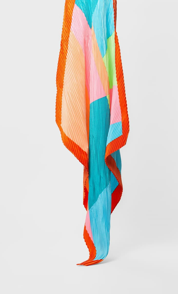 Foulard color block
