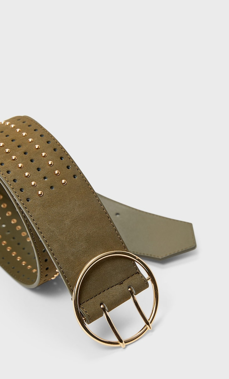 Cinturón ancho tachas
